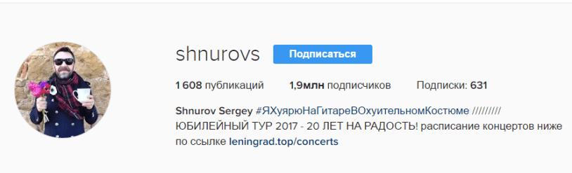 Описание профиля Instagram
