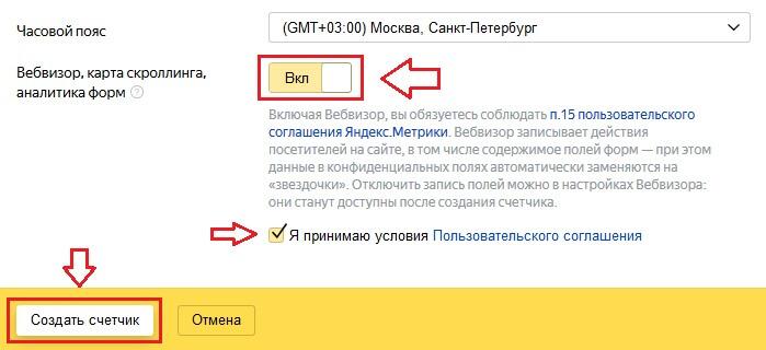 Настройка Яндекс.Метрики