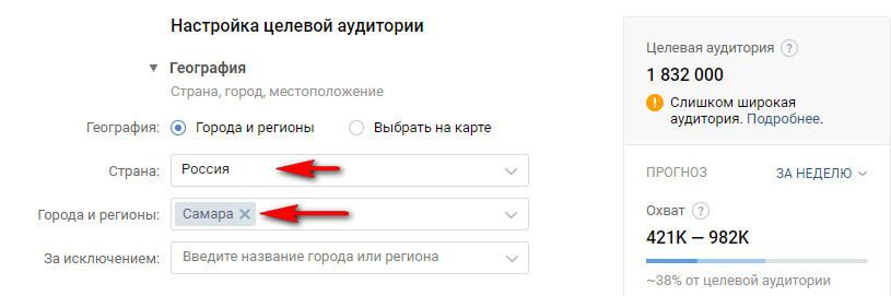 Настройка таргетинга на целевую аудиторию ВКонтакте