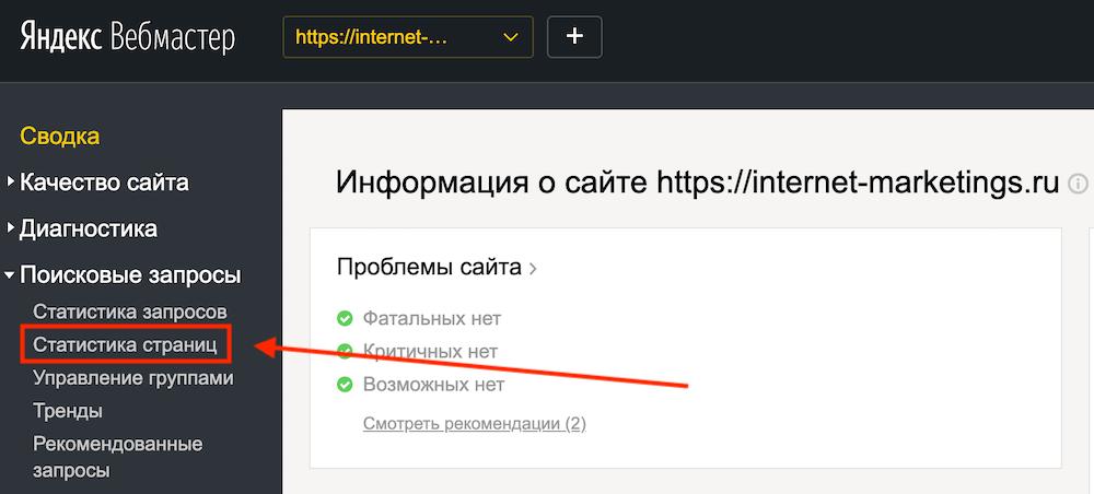 Эффективность тайтлов в Яндексе