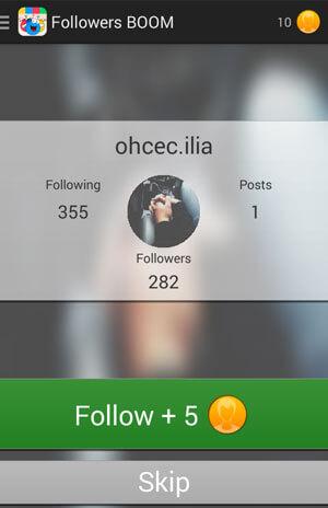 Приложение для накрутки подписчиков в Инстаграме followers boom