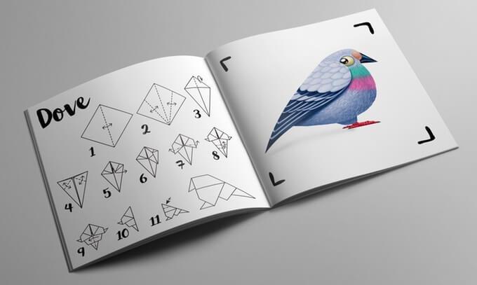 Книжка с моделями оригами
