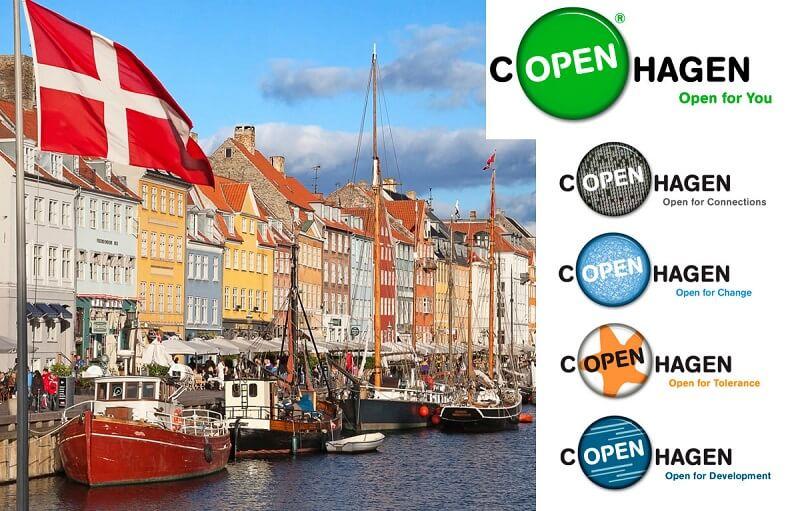 Пример логотипа Копенгагена — «открытого» города
