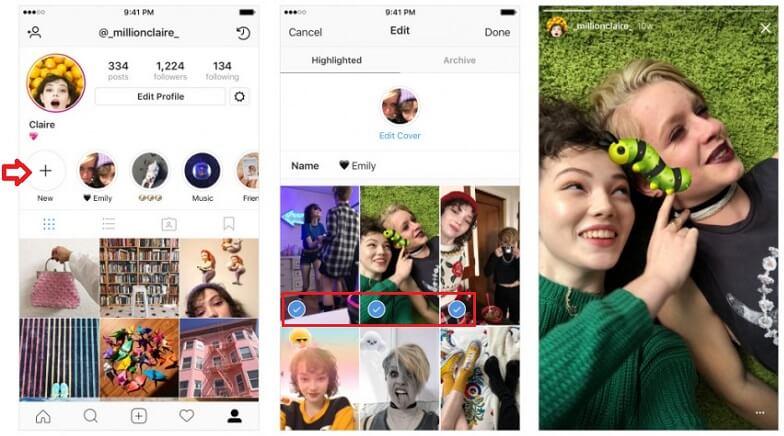 Как сделать и добавить Highlights в Instagram