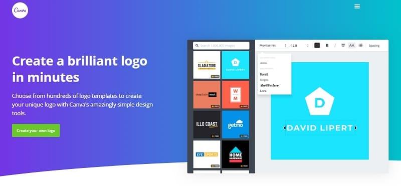 Canva - онлайн-конструктор логотипов