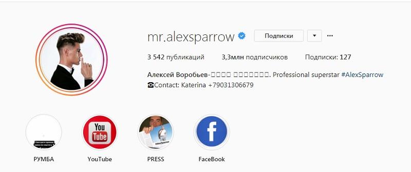 Пример оформления профиля — есть контакты, понятно, что это за человек и чем занимается