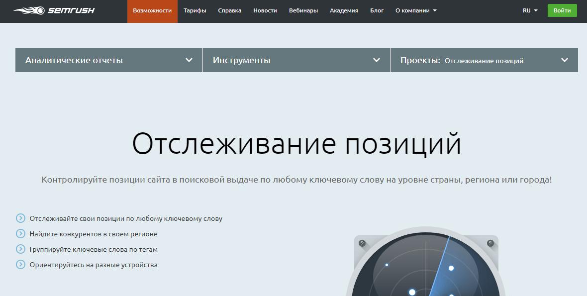Где проверить позиции сайта