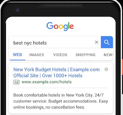 3 заголовок и второе описание в google ads
