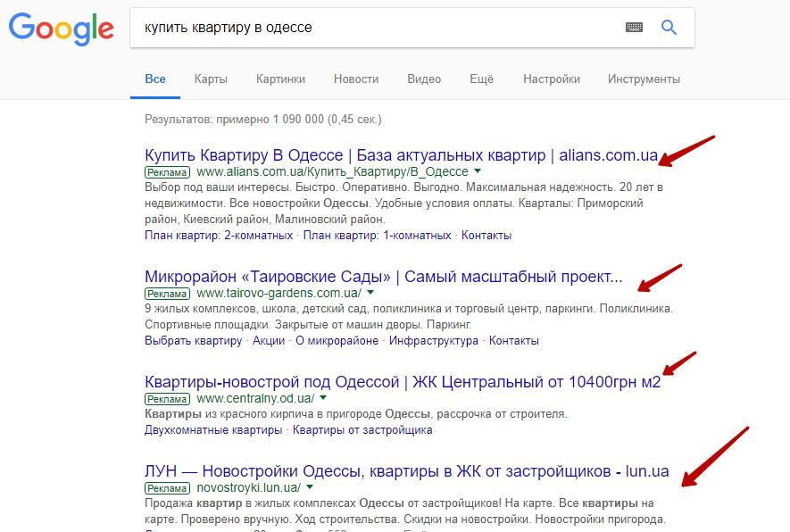 Реклама в Гугле