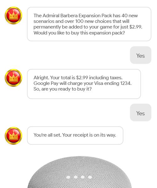 Покупки в Google Assistant