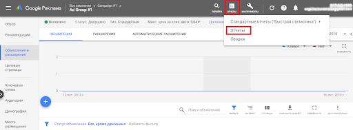 Как посмотреть коэффициент конверсий в рекламном аккаунте Гугл