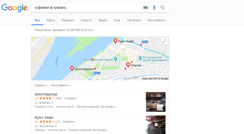 Отзывы на Гугл Картах