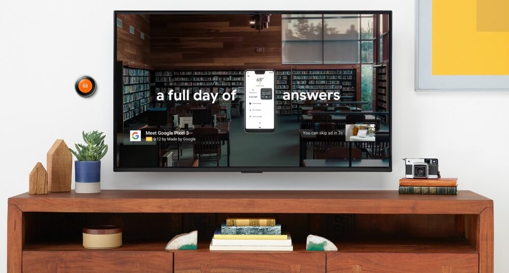 Рекламу в YouTube можно нацелить на телеэкраны