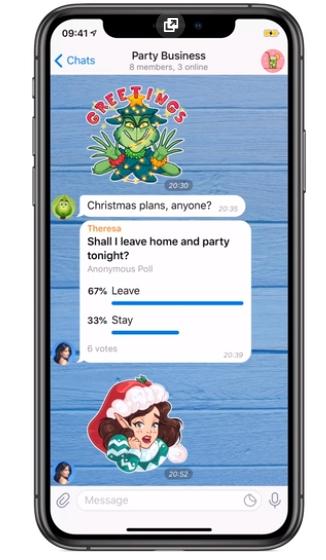 опросы в Telegram