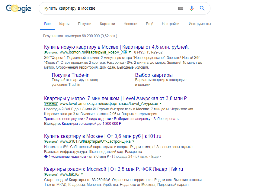 Качество объявления в Google Ads