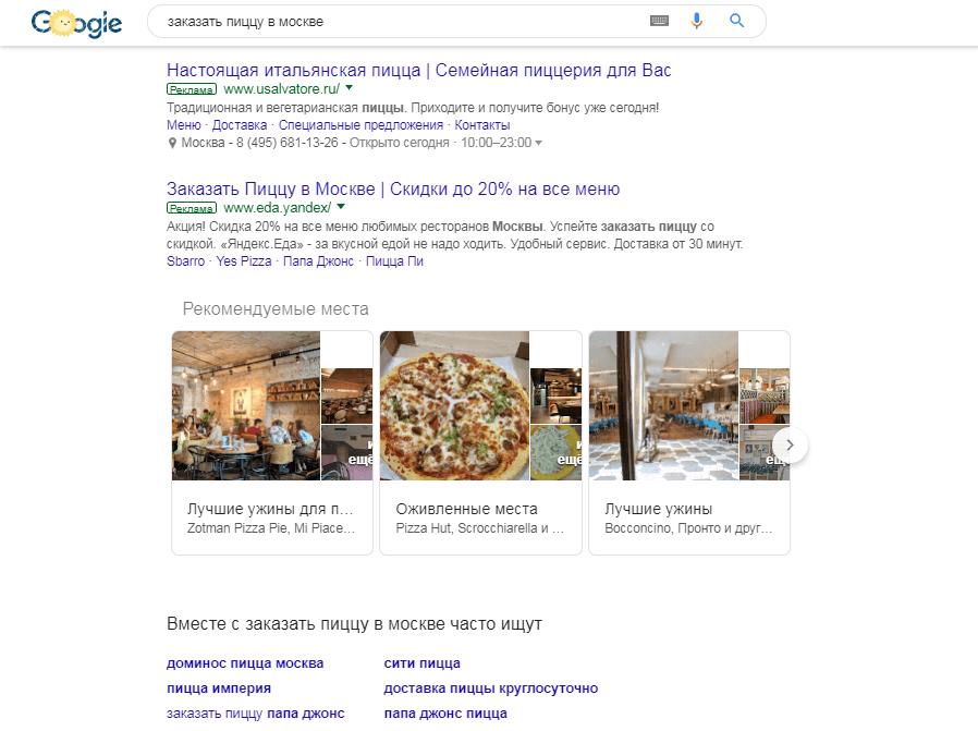 Конкуренция в Гугле