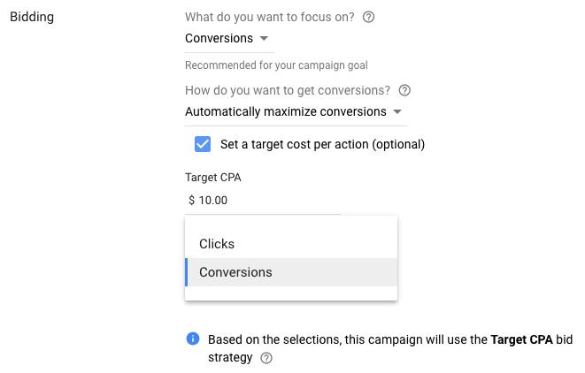 Введена плата за конверсию в рекламных кампаниях в контекстно-медийной сети Google Ads