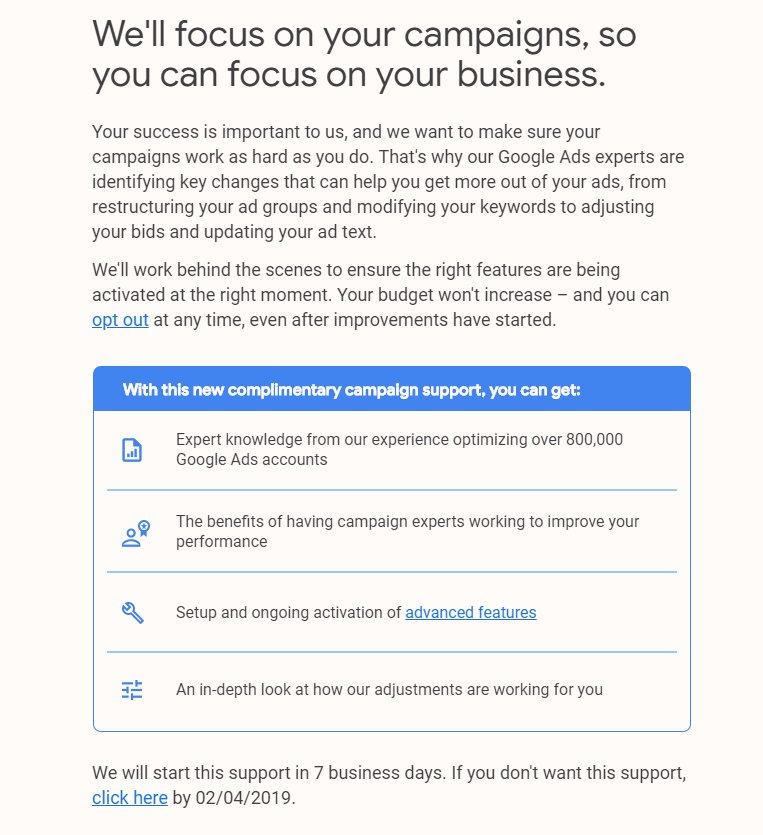 Эксперты Google Ads возьмут под управление некоторые кампании