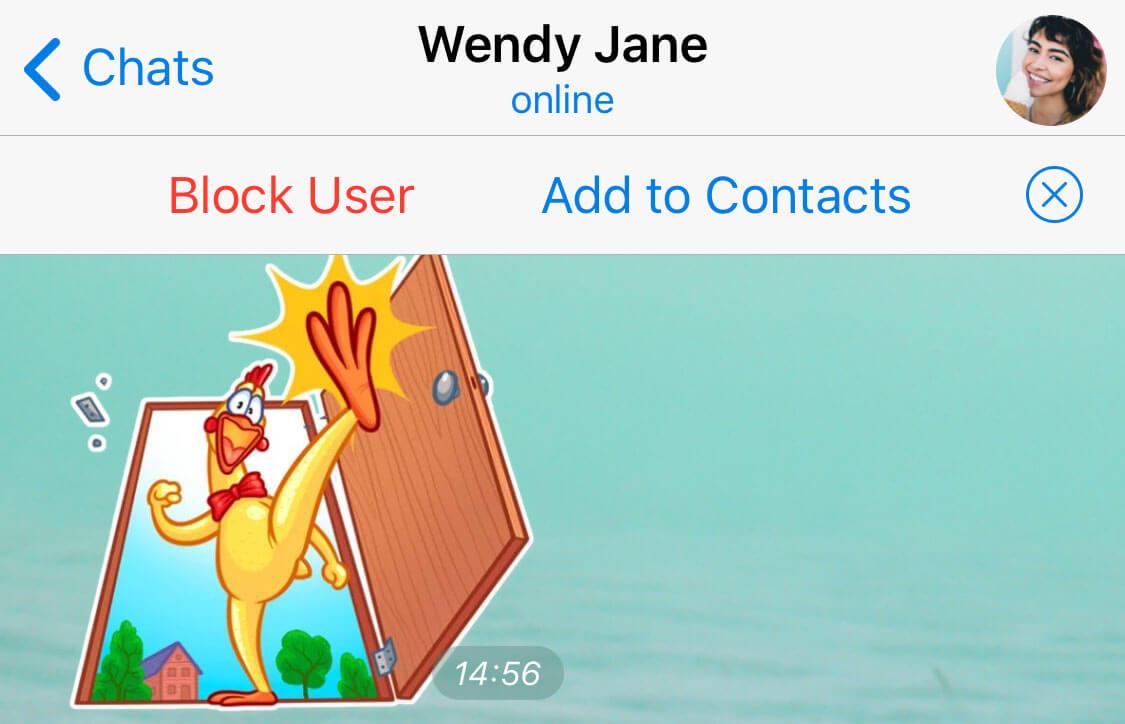 Как добавить пользователя в список контактов без номера телефона