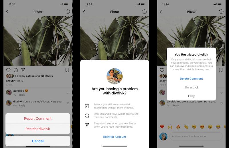 2 новые функции в Инстаграм: скрытие комментариев и премодерация