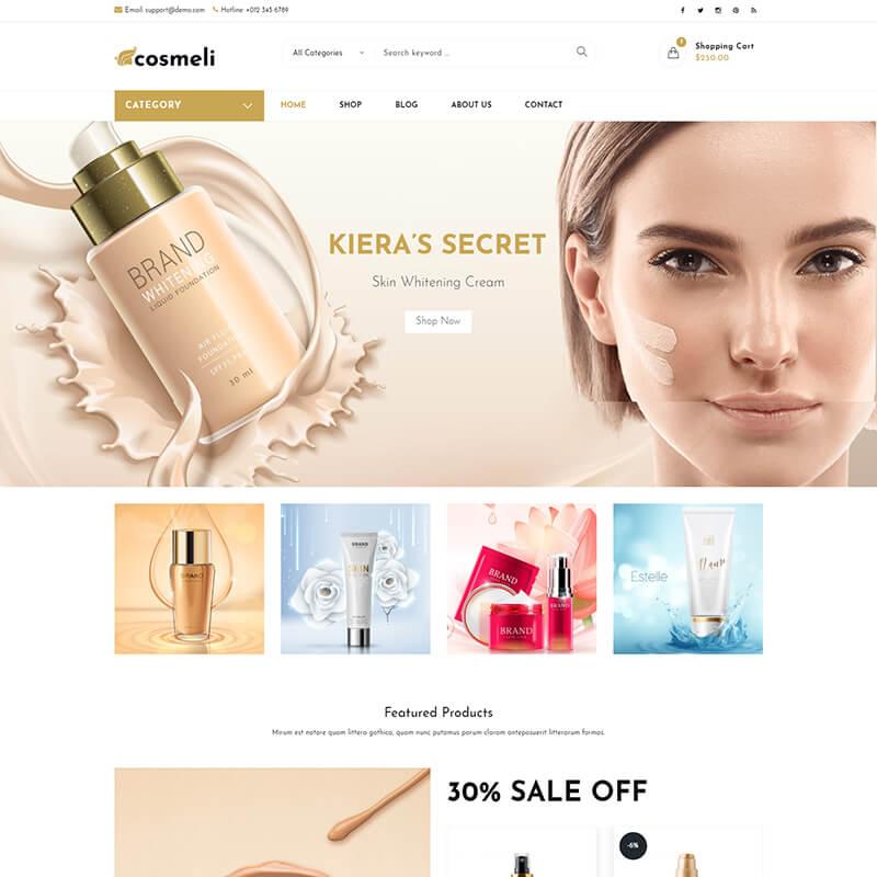 Тема WordPress для онлайн магазина косметики