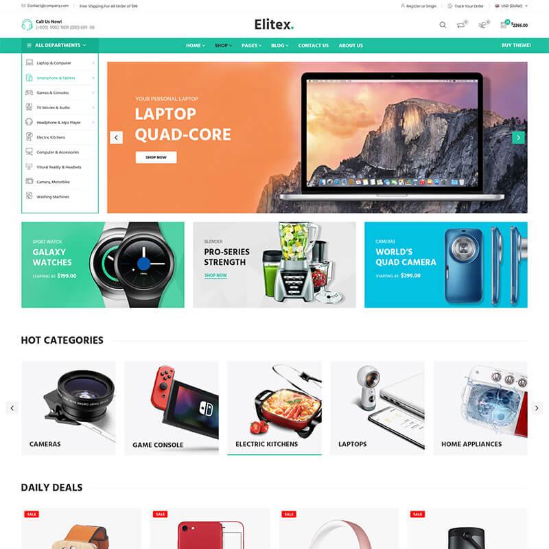 WooCommerce шаблон Elitex – Multi-purposes
