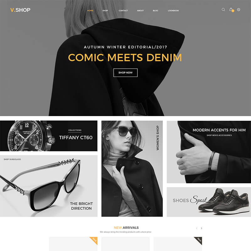 Шаблон для интернет-магазина одежды на WordPress