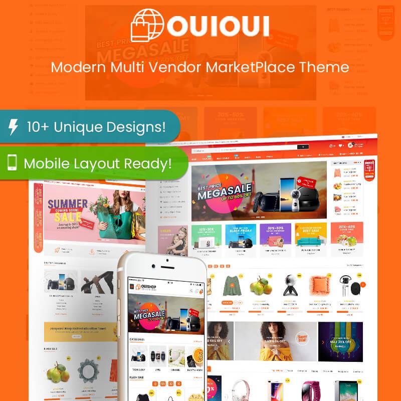 WooCommerce шаблон OuiOui – Multi Vendor MarketPlace