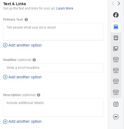 Как настроить тестирование заголовков и текстов объявление в Facebook и Instagram