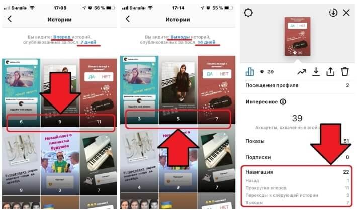 Навигация в Instagram Stories