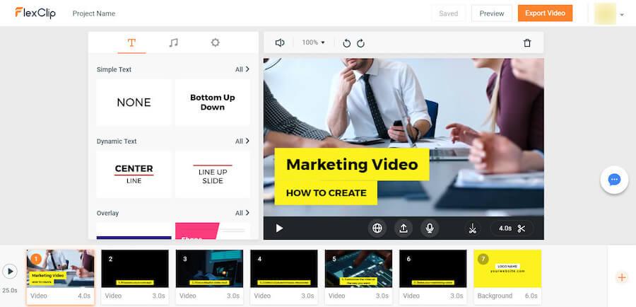 flexclip - сервис создания клипов