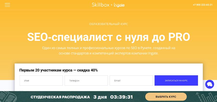Курс SEO от Skillbox: программа обучения для начинающих специалистов