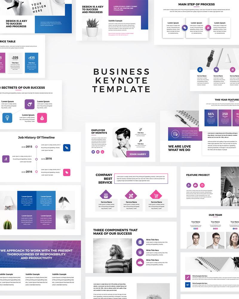 Keynote шаблон Macro - Modern Business Presentation