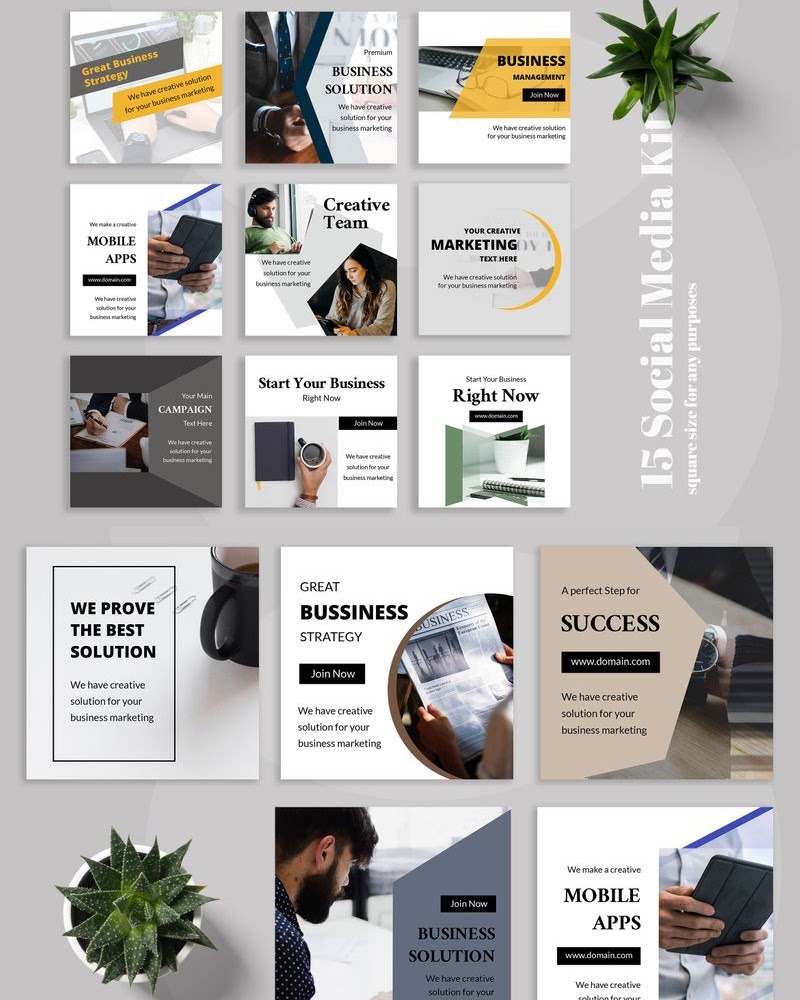 Hexa - Business Instagram Post Social Media