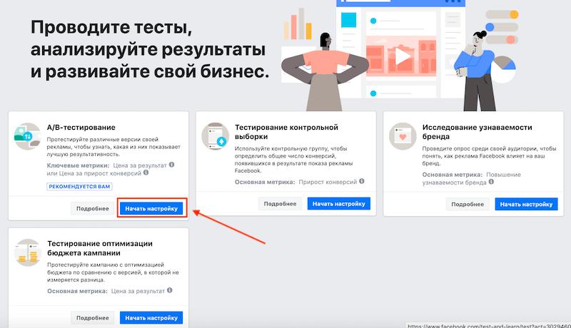 А/Б-тестирование в Фейсбук