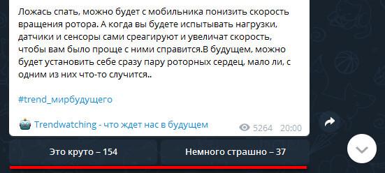 Текстовые реакции в Телеграм