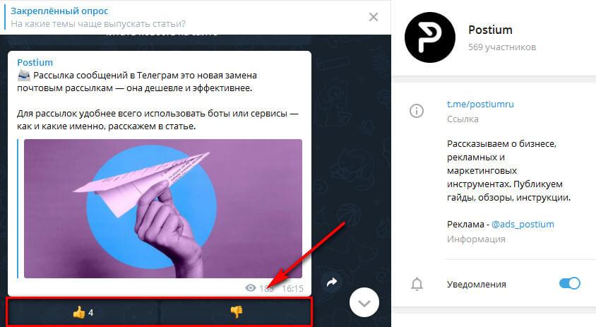 Зачем нужны реакции в Телеграм-канале