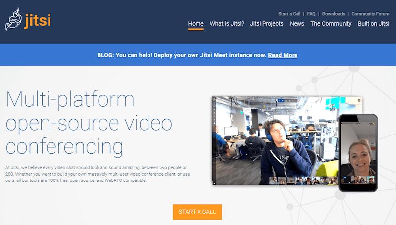 Jitsi - бесплатный сервис видеоконференций