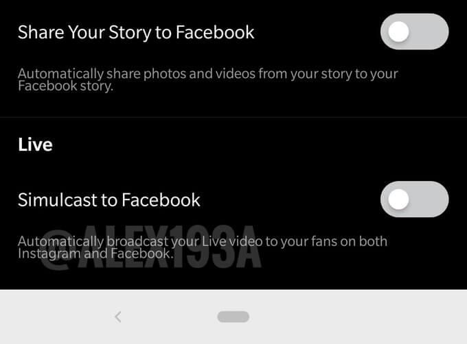 Instagram тестирует одновременную трансляцию в Facebook