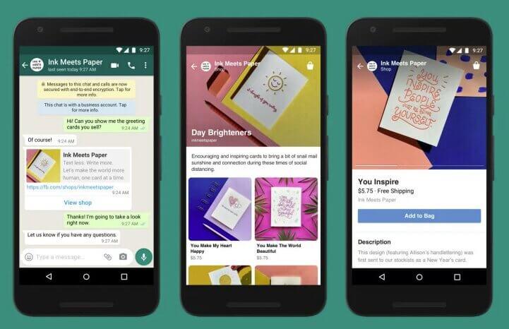 Магазины в Messenger, WhatsApp или личных сообщениях в Instagram