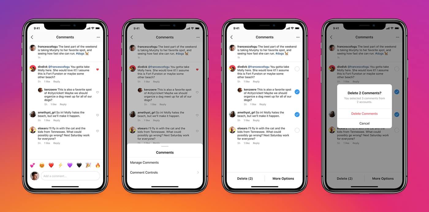 Массовое удаление комментариев в Инстаграм и блокировка хейтеров