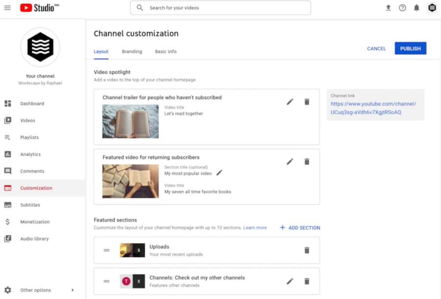 Кастомизация Ютуб-канала