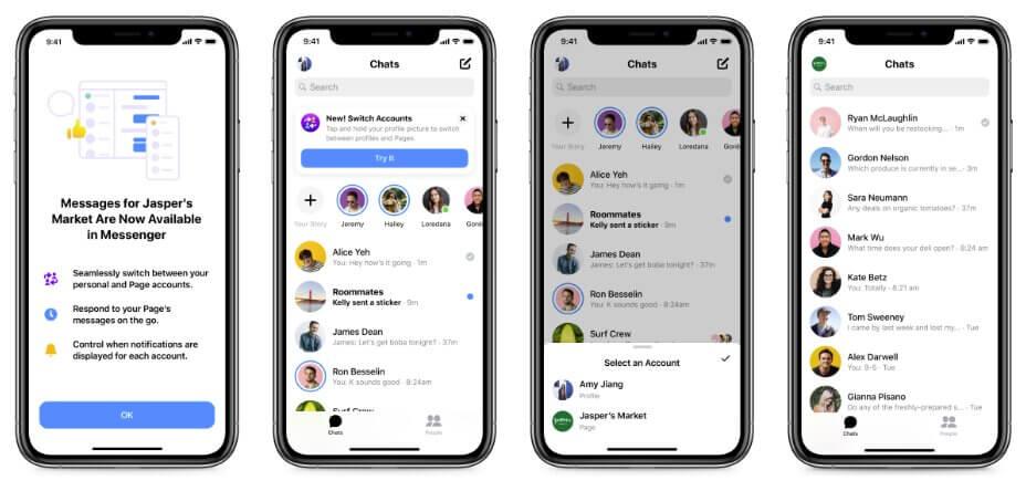 Как переключать аккаунты в Facebook Messenger