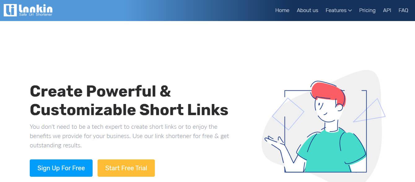 Lnnkin - сервис для сокращения ссылок
