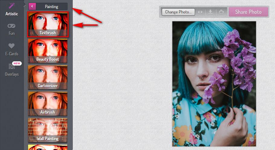 Стилизация фото профиля