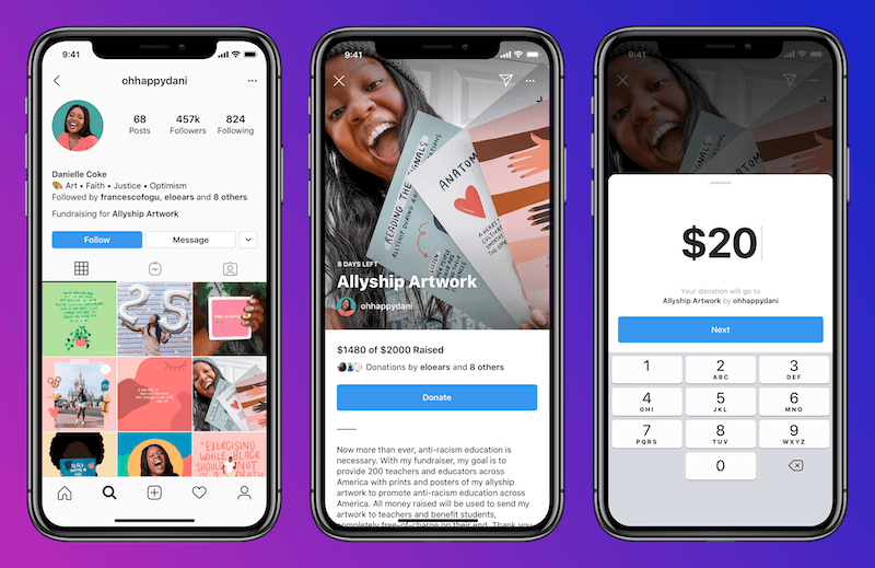 Сбор денег в Инстаграм