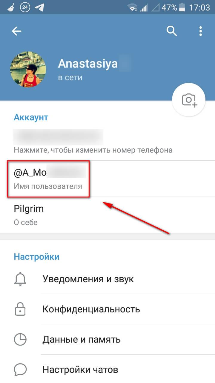 Логин в Телеграм