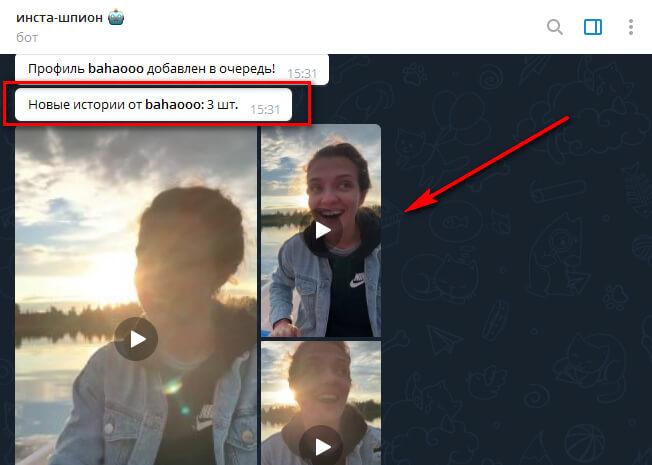 Как скачать сторис в Инстаграм через бота в Телеграмме