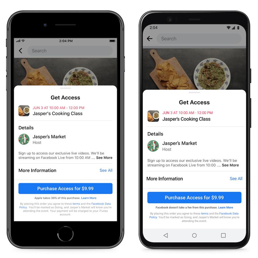 Платные онлайн-мероприятия в Фейсбуке