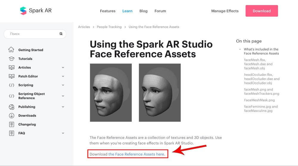 Download the Face Reference Assets here
